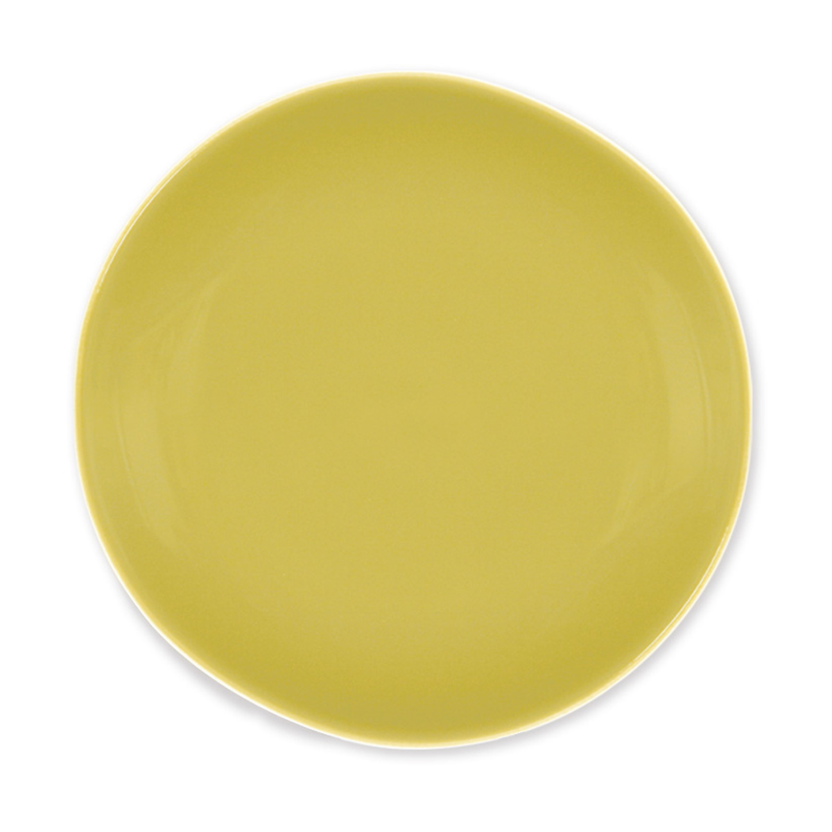 Idee Deco couleur vert anis : Assiette à Dessert en Faïence - Couleur Vert Anis - Vaisselle Tendance