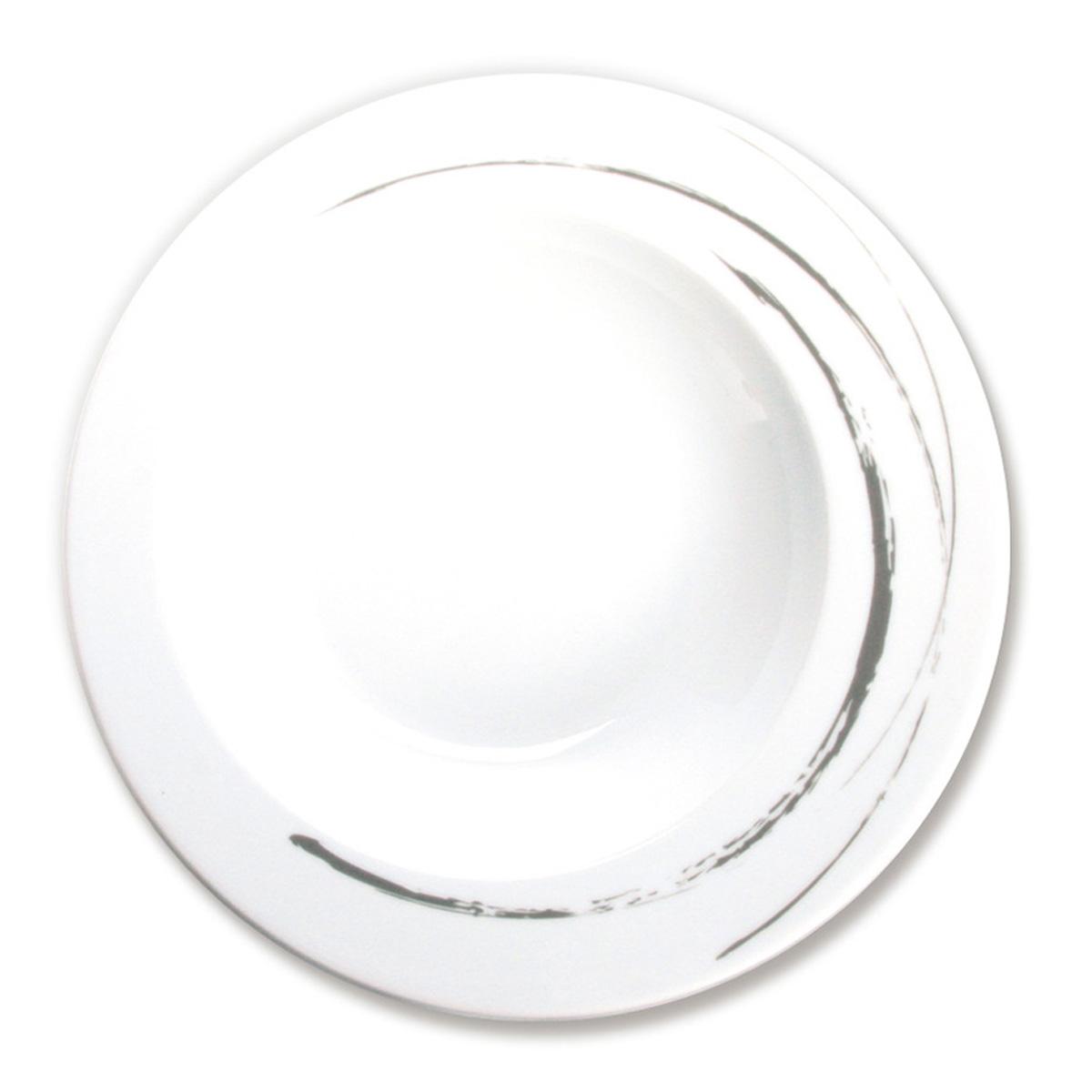 assiette creuse en porcelaine blanche vaisselle moderne et chic. Black Bedroom Furniture Sets. Home Design Ideas