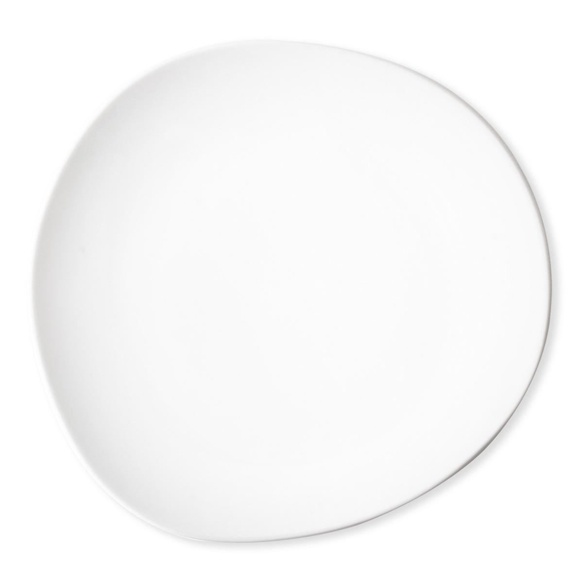 assiette blanche forme originale 27cm vaisselle chic. Black Bedroom Furniture Sets. Home Design Ideas