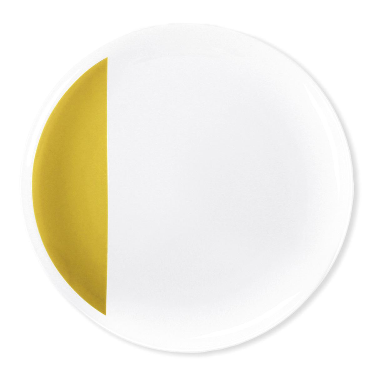 assiette jaune moutarde design louison vaisselle chic et tendance. Black Bedroom Furniture Sets. Home Design Ideas