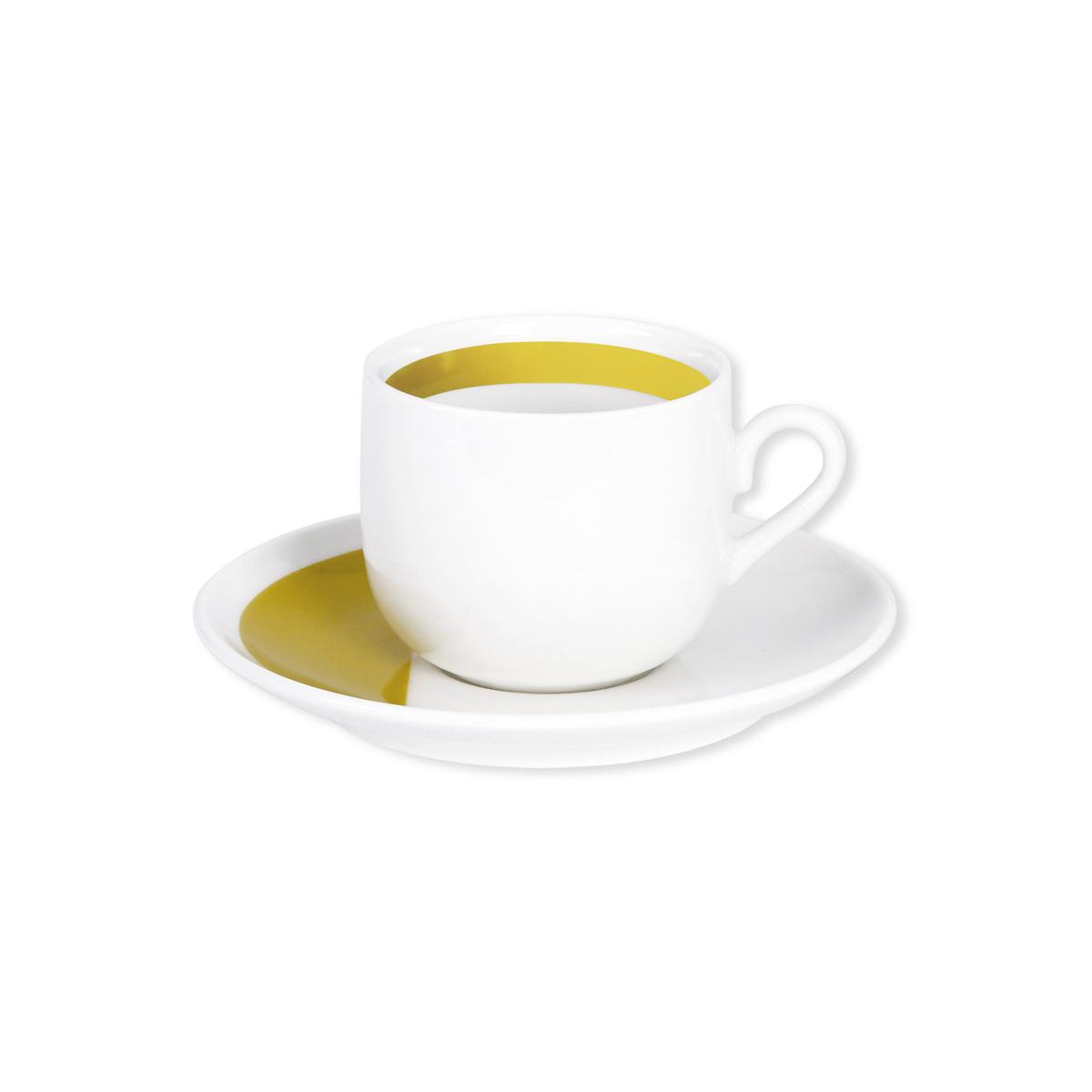 tasse caf et sous tasse en porcelaine color e 11cl. Black Bedroom Furniture Sets. Home Design Ideas