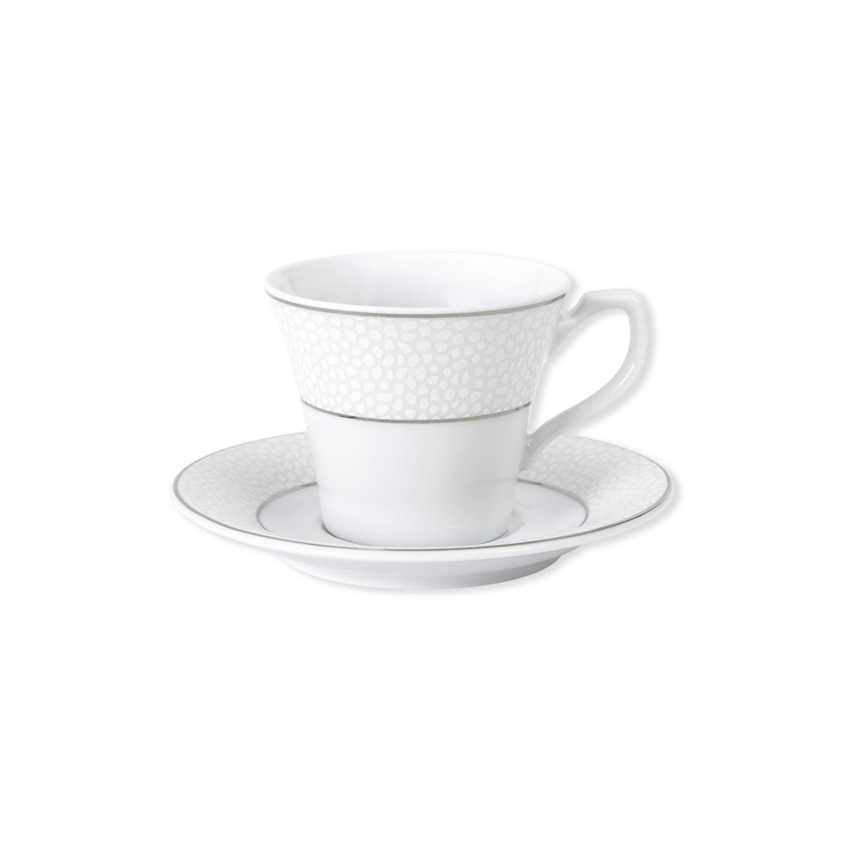 tasse et soucoupe caf design en porcelaine vaisselle chic. Black Bedroom Furniture Sets. Home Design Ideas