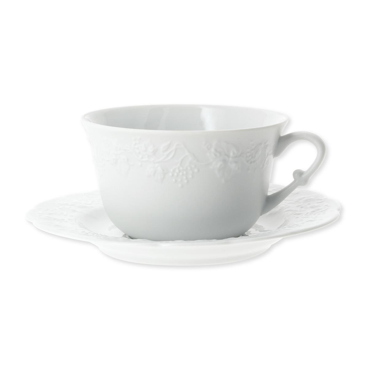 tasse d jeuner en porcelaine blanche motif fruits bruno evrard. Black Bedroom Furniture Sets. Home Design Ideas
