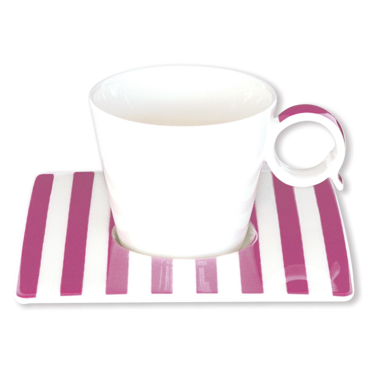 tasse et sous tasse en porcelaine color e 12cl. Black Bedroom Furniture Sets. Home Design Ideas