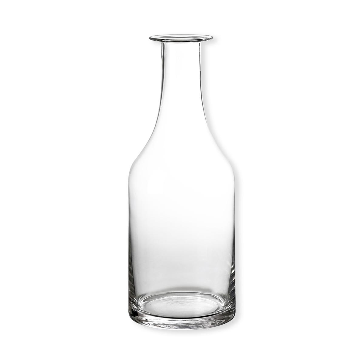 vase en verre transparent vase en forme de bouteille bruno evrard. Black Bedroom Furniture Sets. Home Design Ideas