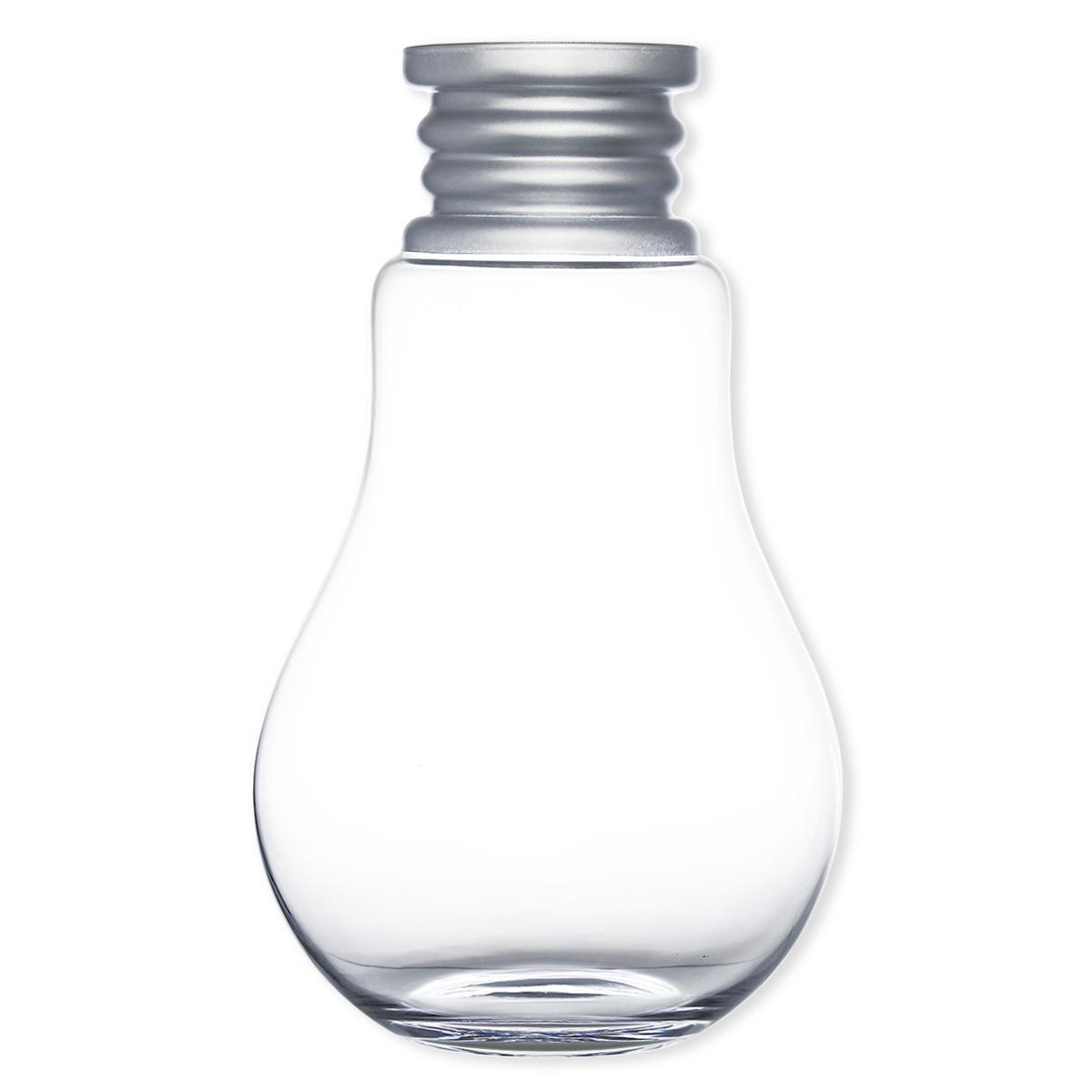 vase forme ampoule en verre souffl 46cm vase d co. Black Bedroom Furniture Sets. Home Design Ideas
