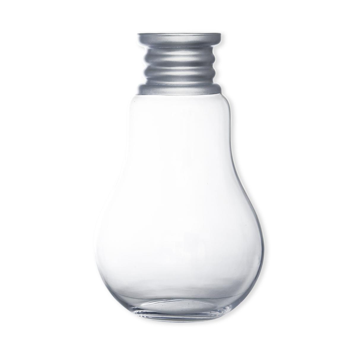 vase forme ampoule en verre souffl 36cm d co design. Black Bedroom Furniture Sets. Home Design Ideas