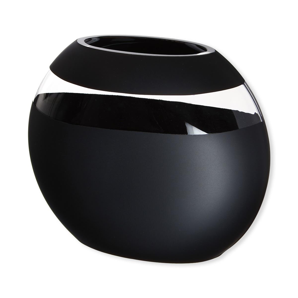 grand vase design en verre satin noir souffl bouche. Black Bedroom Furniture Sets. Home Design Ideas