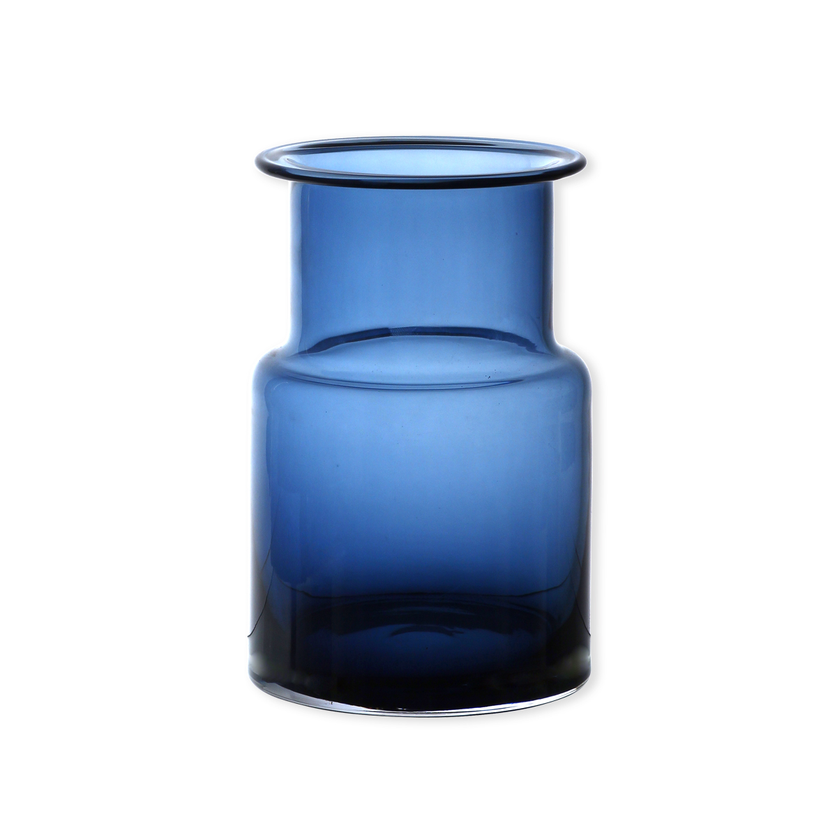 vase design en verre bleu marine 20cm objets d co bruno evrard. Black Bedroom Furniture Sets. Home Design Ideas