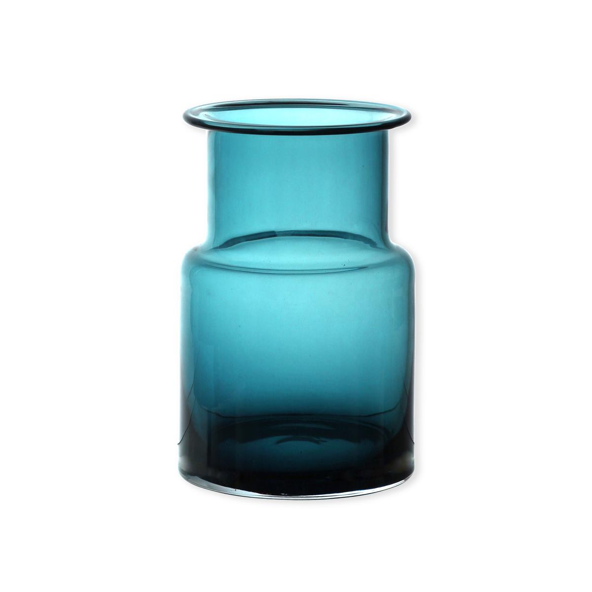 vase design en verre turquoise 20cm objets d co. Black Bedroom Furniture Sets. Home Design Ideas