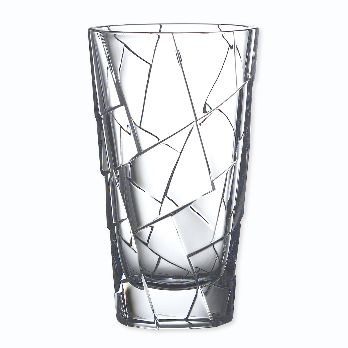 vase en cristal moderne 30cm vases design bruno evrard. Black Bedroom Furniture Sets. Home Design Ideas
