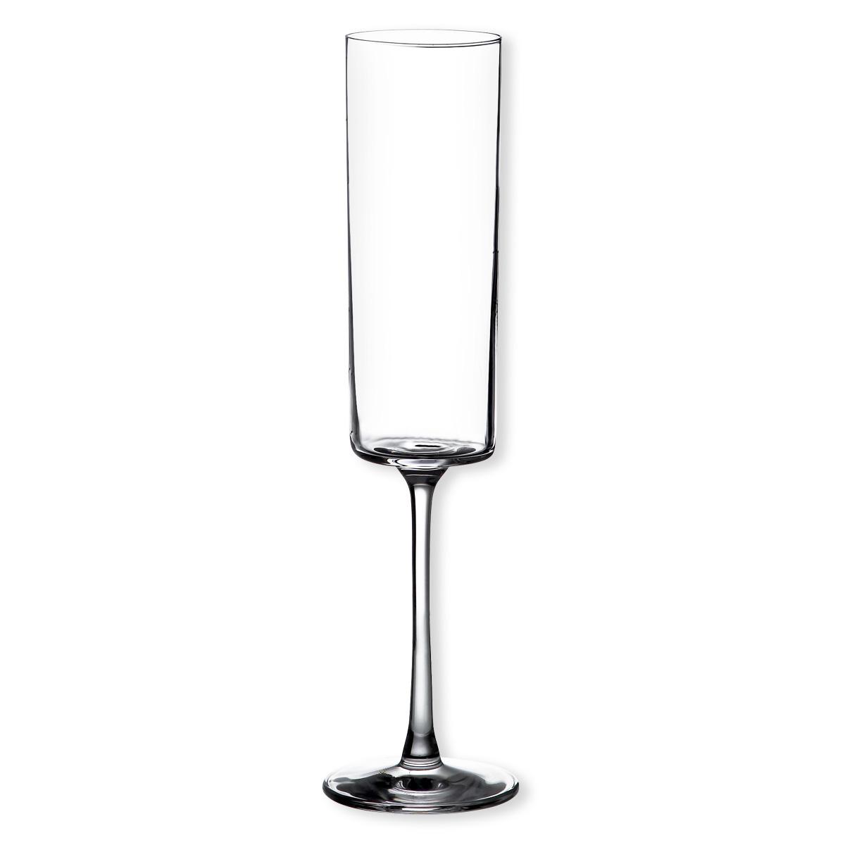 Fl te champagne design en cristallin verrerie chic bruno evrard - Flute a champagne design ...