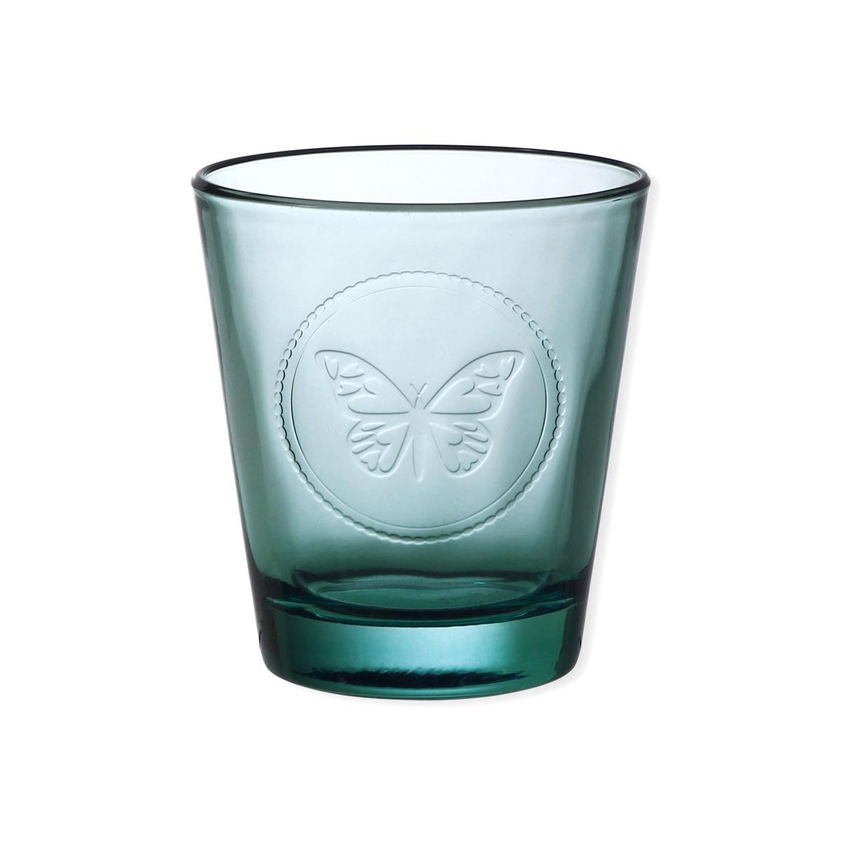 gobelet motif papillon en verre bleu turquoise 30 cl bruno evrard. Black Bedroom Furniture Sets. Home Design Ideas