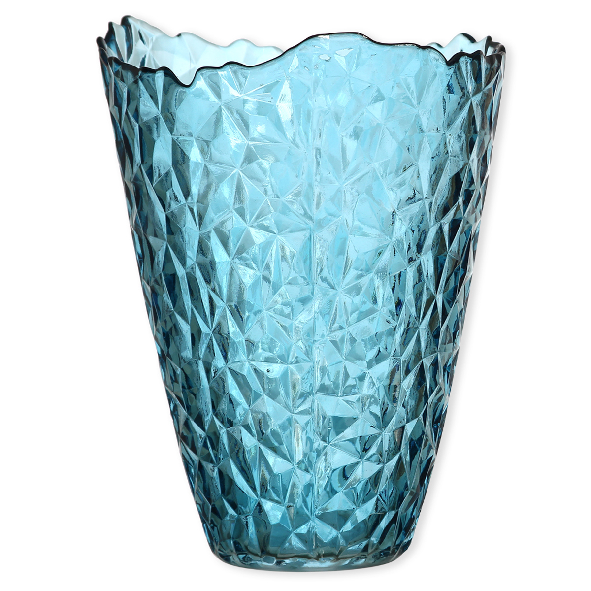 vase en verre color design vase couleur bleu canard bruno evrard. Black Bedroom Furniture Sets. Home Design Ideas