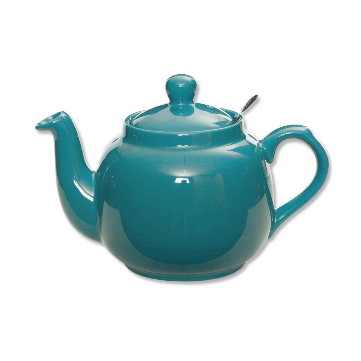 Th i re bleue en fa ence 1 5l design anglais bruno evrard for Faience bleu canard