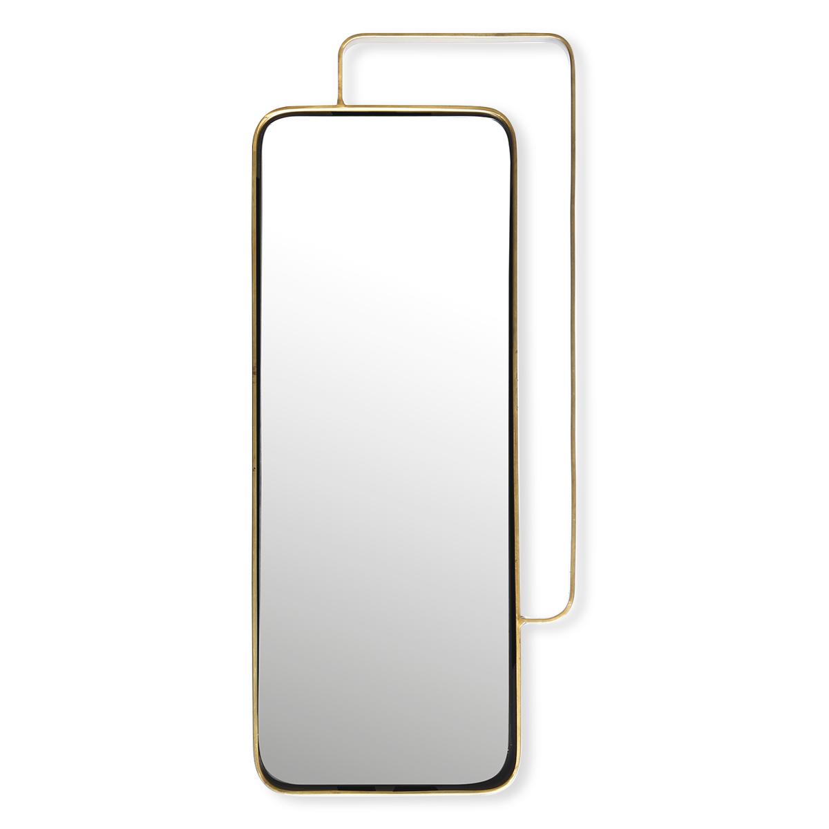Miroir rectangulaire m tal dor bruno evrard for Imprimer en miroir