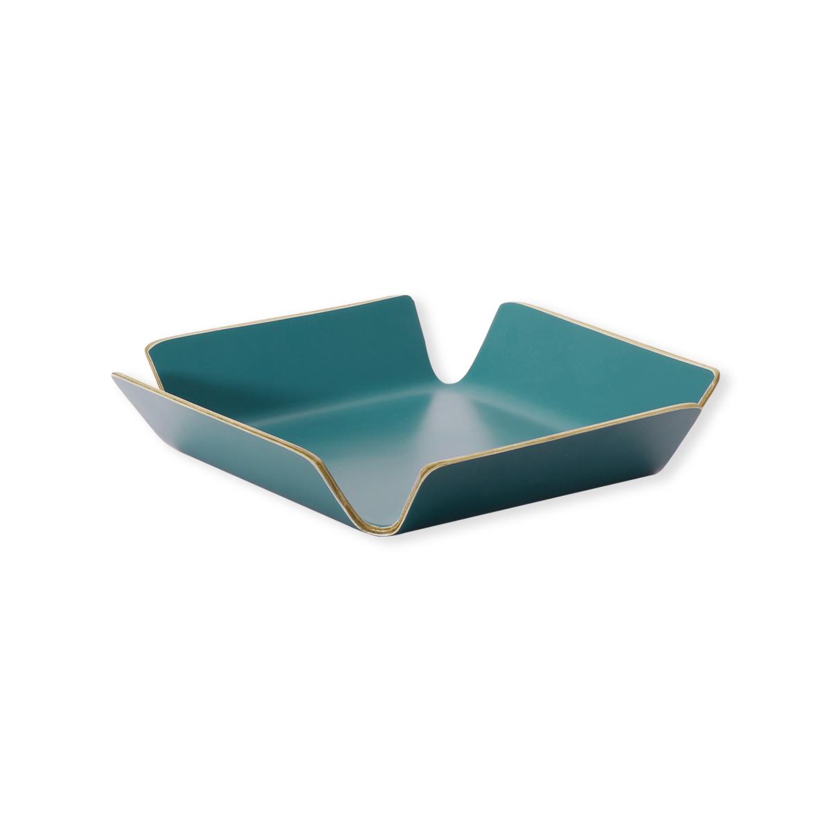 corbeille pain design en bois bleu canard vaisselle tendance. Black Bedroom Furniture Sets. Home Design Ideas