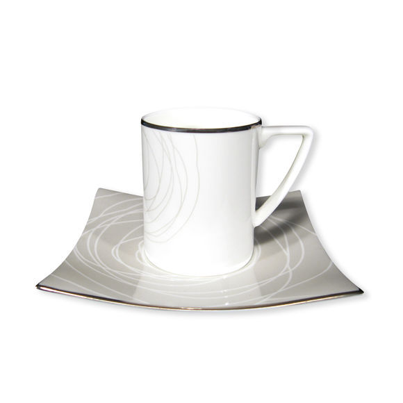 Paire-tasse café 9cl en porcelaine bone-china