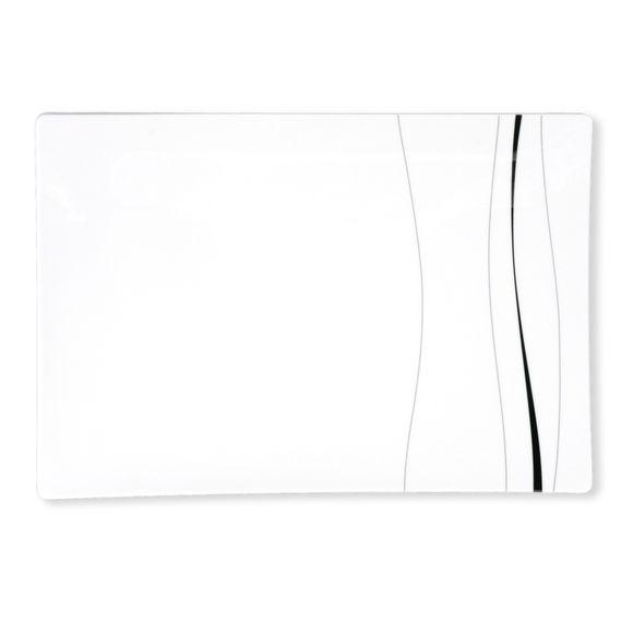 ODETT PLATINE Plat rectangulaire