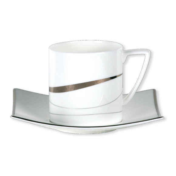 Paire-tasse thé 22cl en porcelaine bone-china