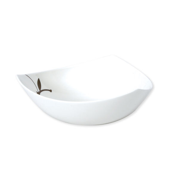 Assiette creuse en porcelaine bone-china 20cm