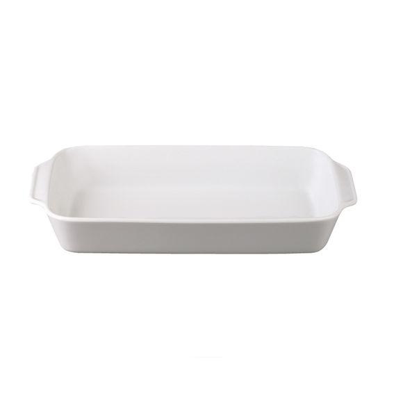 Plat rectangulaire en porcelaine 33x17,5cm