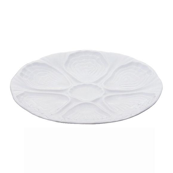 Assiette à huîtres en porcelaine 24,5cm