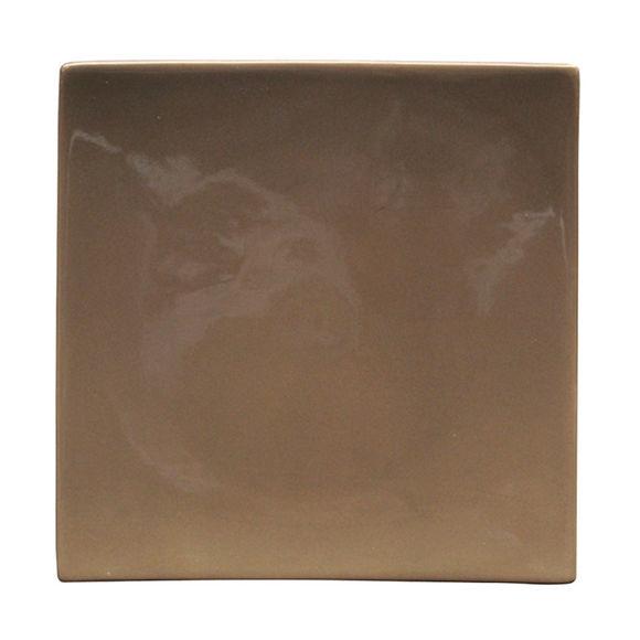 Assiette plate taupe en céramique 26x26cm