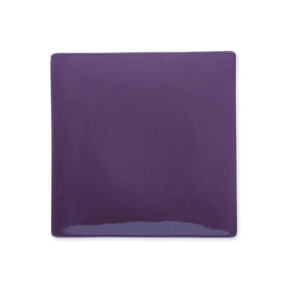 Assiette dessert violet en céramique 21x21cm