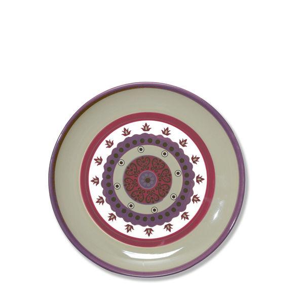 Assiette plate en céramique décor rosace 28cm