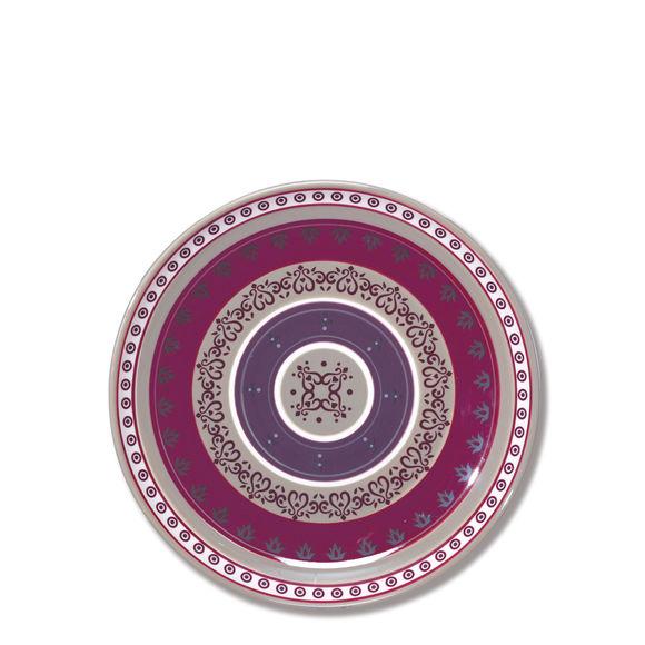 Assiette plate en céramique décor frise 28cm