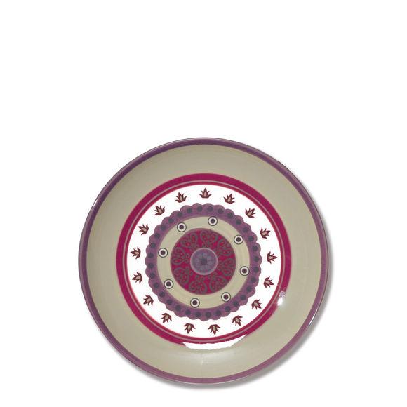 Assiette dessert en céramique décor rosace 23cm
