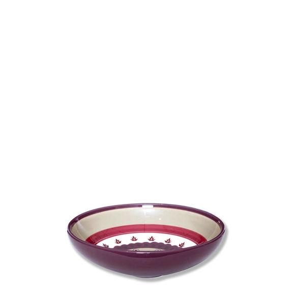 Assiette creuse en céramique décor rosace 20cm