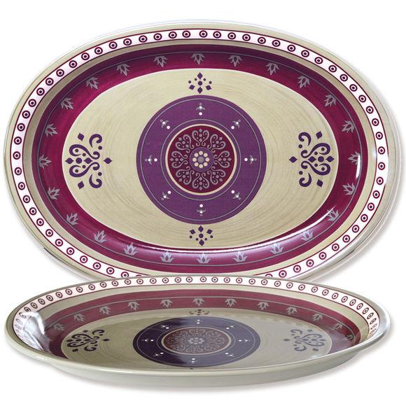 Plat ovale en céramique 41x29cm