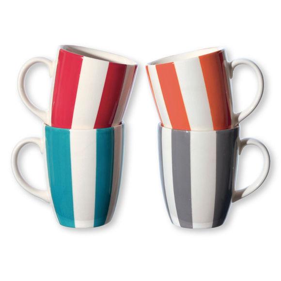 Mugs en faïence couleurs assorties 25cl - Coffret de 4
