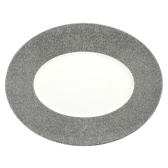 Plat ovale en porcelaine 34cm