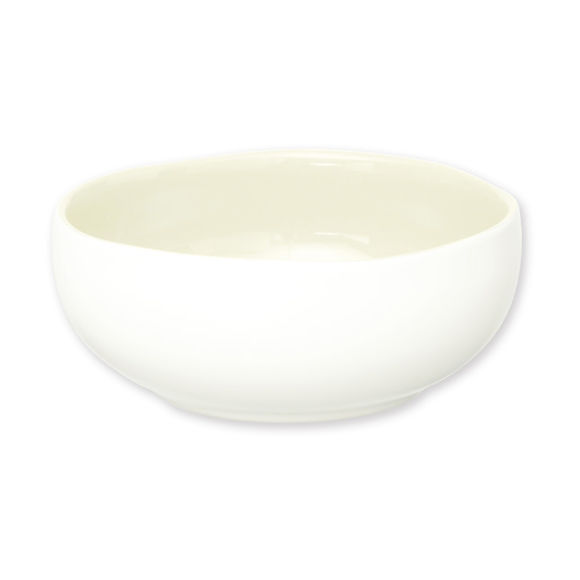 Assiette creuse ivoire en faïence 16cm