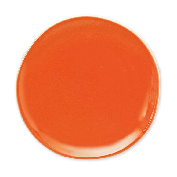 Assiette dessert orange en faïence 20cm