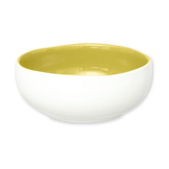 Assiette creuse verte en faïence 16cm