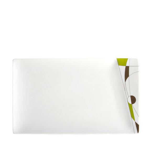 MIAMI VERT Plat plat rectangulaire 34x20cm