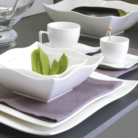 Plat Carr En Porcelaine Vaisselle Design Et Tendance