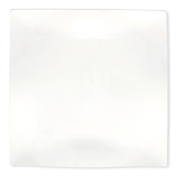 Plat carré plat en porcelaine 30cm