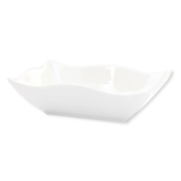 Assiette creuse rectangulaire en porcelaine 18x13cm