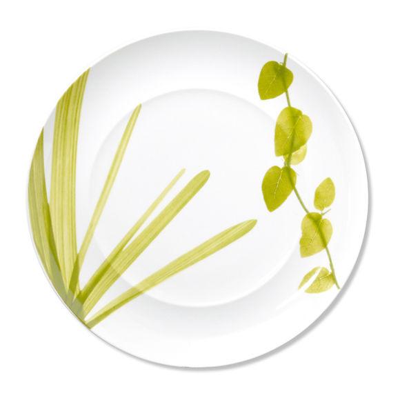 Plat rond plat en porcelaine 32 cm