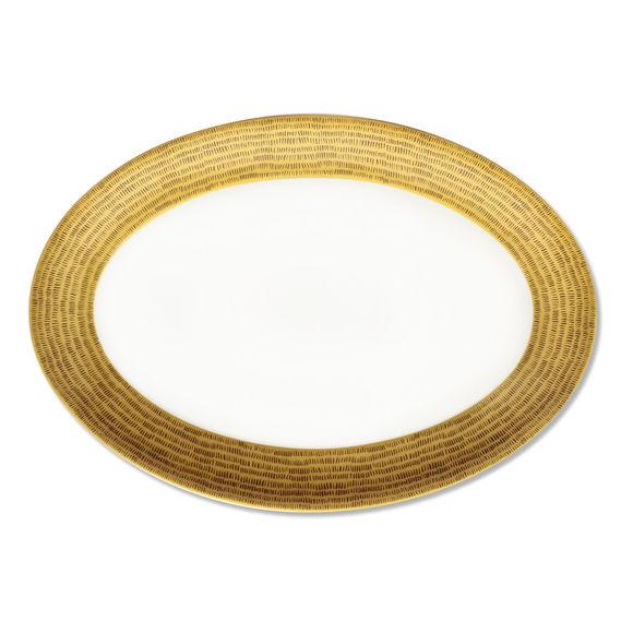 Plat ovale en porcelaine 39x27cm