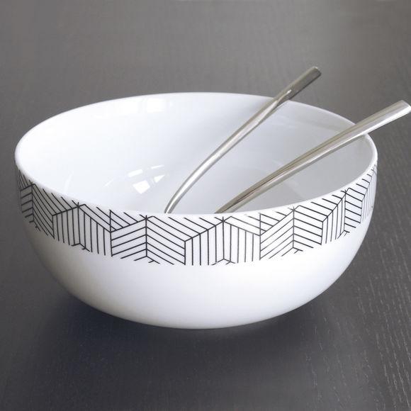 saladier au design scandinave en porcelaine blanche bruno evrard. Black Bedroom Furniture Sets. Home Design Ideas