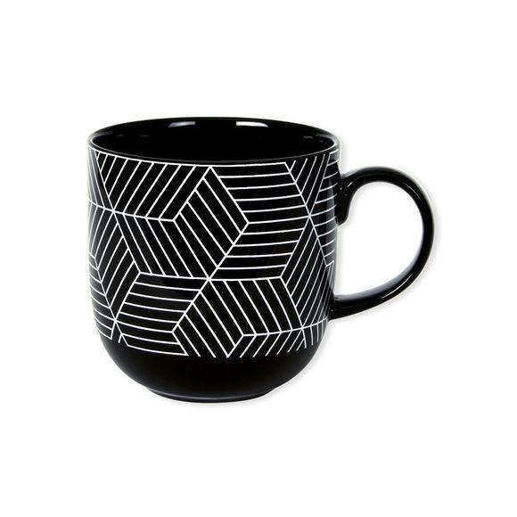 Mug motifs graphiques en porcelaine 32cl