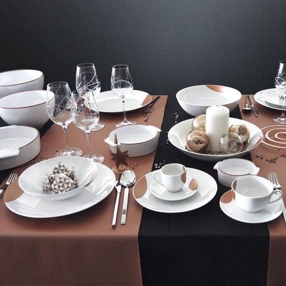 tasse et soucoupe d jeuner en porcelaine vaisselle tendance. Black Bedroom Furniture Sets. Home Design Ideas