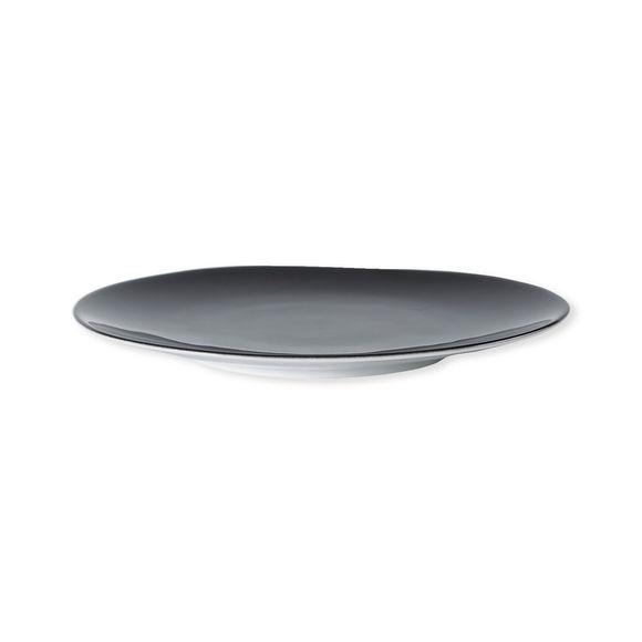 assiette dessert en porcelaine noire vaisselle chic et tendance. Black Bedroom Furniture Sets. Home Design Ideas