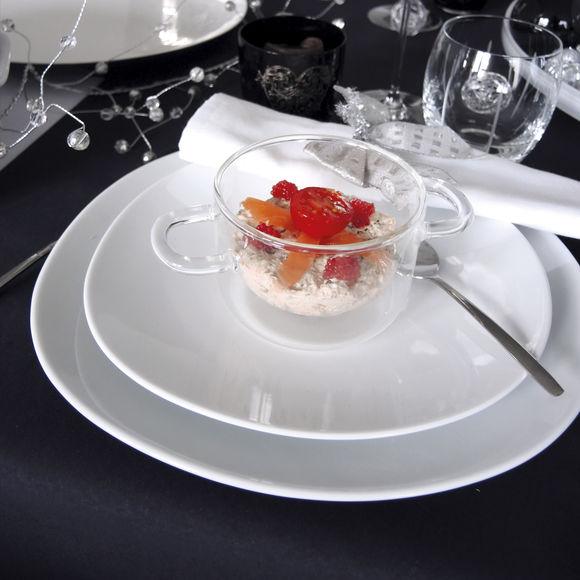 assiette blanche forme originale 27cm vaisselle chic et tendance. Black Bedroom Furniture Sets. Home Design Ideas